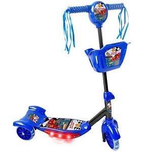 Patinete Corrida Divertida Com Cesta Azul - DM Toys