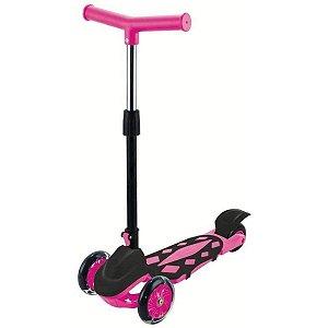 Patinete Radical Power Dobrável - Pink/Azul - DM Toys
