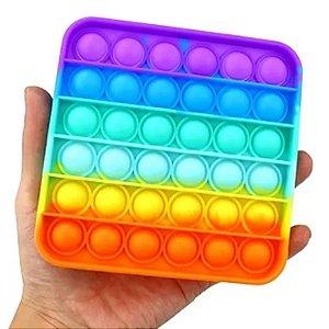 Fidget Toys Pop It Colorido - Formas Geométricas - Promoção
