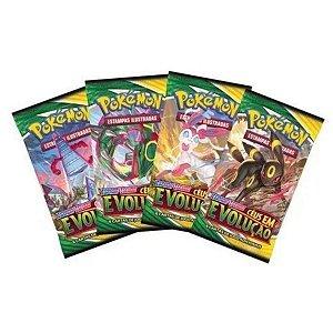 4 Booster Pokemon Espada E Escudo Céus Em Evolução - Copag