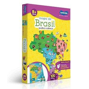 Quebra-Cabeça - Mapa do Brasil - 100 Peças - Toyster