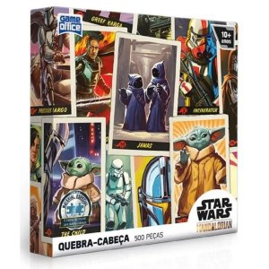 Quebra-Cabeça 500 Pçs - Star Wars Mandaloriano - Toyster