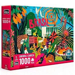 Quebra Cabeça 1000 Pçs - Brasil - Toyster