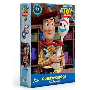 Quebra-cabeça 60Pçs - Toy Story 4 Woody E Garfinho - Toyster
