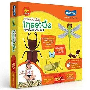 Quebra-Cabeça Mundo Dos Insetos 120 Peças - Toyster
