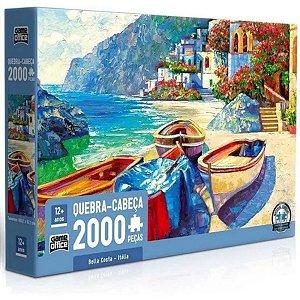 Quebra-cabeça Bella Costa - Itália 2000 Peças - Toyster