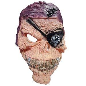 Máscara Halloween Latex Caveira Pirata