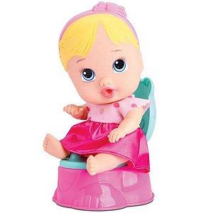 Boneca Baby Little Dolls Faz Xixi Loura - Divertoys