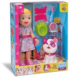 Boneca My Little Pet Com Gato Come Faz Caquinha - Diver Toys