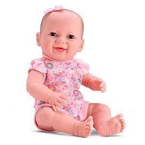 Boneca New Born Com Bercinho Menina - Divertoys