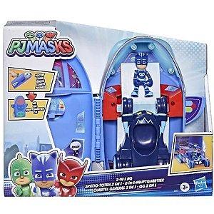 Brinquedo Pj Masks Quartel General Foguete 2 Em 1 - Hasbro