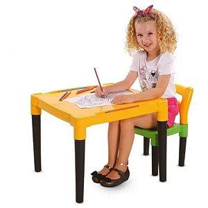 Mesinha Com Cadeira Infantil - Dismat