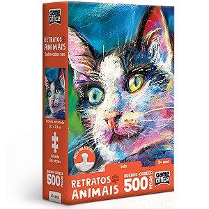 Quebra-Cabeça Retratos Animais Gato - Toyster