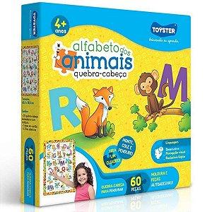 Quebra-Cabeça Alfabeto dos Animais 60 Pçs - Toyster
