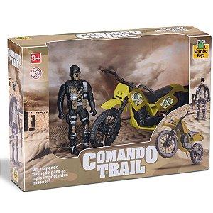 Brinquedo Moto Com Boneco  Comando Trail-Samba Toys