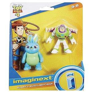 Brinquedo Toy Story 4 Bunny E Buzz Lightyear Imaginext - Mattel