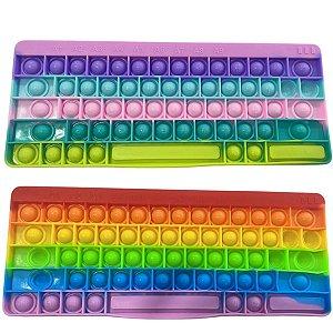 Teclado educativo  abc Pop It Fidget Toy cores sortidas