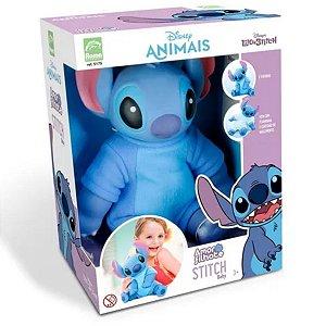 Boneco Stitch Baby Filhote Vinil C/ Pijama E Certidão - Roma