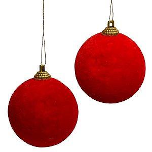Bola Camurça Natal 6cm Com 4und
