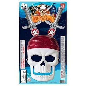 Kit Piratas 7 Mares Mascara C/2 Espadas - PICA PAU
