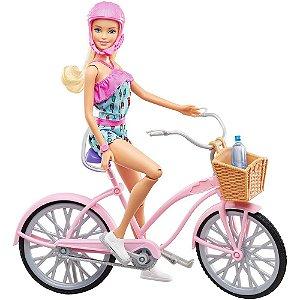Boneca (o)com Bicicleta Barbie
