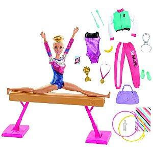 Boneca(o)com Cenario Barbie Set De Academia