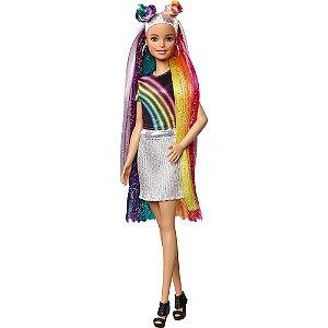 Barbie Penteado Arco Iris Mattel