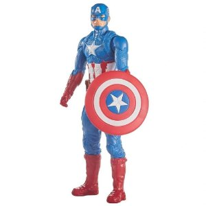 Boneco Articulado Vingador Capitão América Titan Hero Hasbro