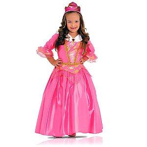 Fantasia Princesa Rosa Luxo 35006 G