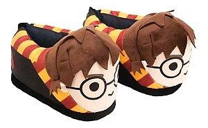 Pantufa 3D Harry Potter com solado emborrachado 37/39 Ricsen