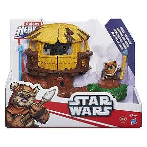 Conjunto Playskool Heroes Star Wars Aventura Em Endor Hasbro