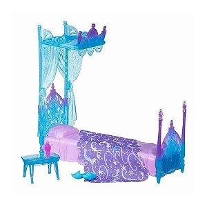 Playset Disney Frozen Quarto Rainha Elsa Cama De Gelo