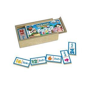 Domino educativo  Multiplicação de Madeira