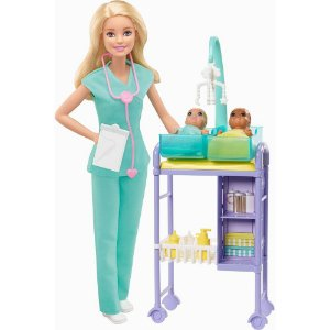 Boneca(o)com Cenario Barbie Profissoes Pediatra