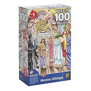 Quebra Cabeça Puzzle O Monte Olimpo 100 Peças da Grow 03753
