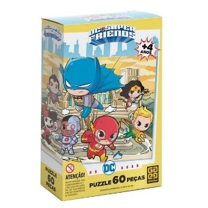 Puzzle 60 peças Liga da Justiça