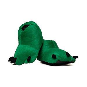 Pantufa de Pata Garra De Bicho Verde 34 ao 37