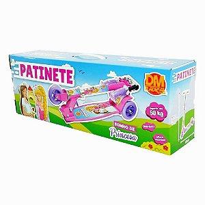 Patinete Infantil 3 Rodas Altura Ajustável Sonho De Princesa