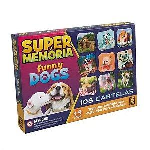Jogo Da Memória Super Memória Funny Dogs 108 Cartas Grow