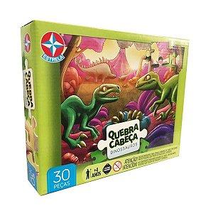 Quebra-Cabeça Dinossauros 30 Peças - Estrela