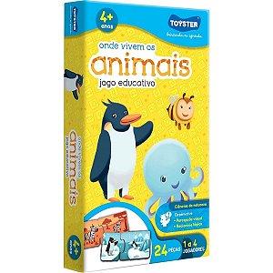 Jogo Educativo Onde Vivem Os Animais - Toyster