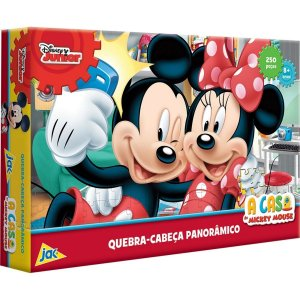 Quebra-Cabeça Panorâmico A Casa do Mickey House 250 Peças - Jak