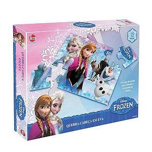 Quebra Cabeça Da Frozen Disney Com 12 Peças  - Líder
