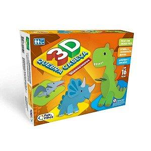 Quebra Cabeça 3D Dinossauros - Pais & Filhos