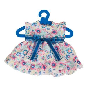 Roupinha Baby Alive Vestido Florzinha Azul