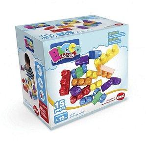 Brinquedo Blocos de Montar Box Alegre Original Dismat
