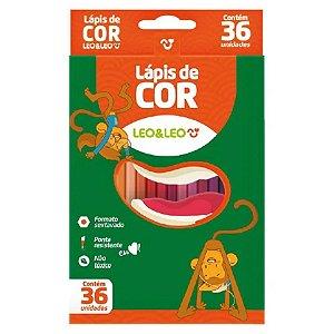 Lápis De Cor Sextavado 36 Cores Leo E Leo
