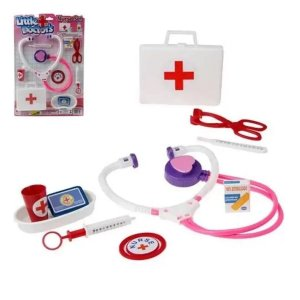 Little Doctor's Kit Médico De Brinquedo Enfermeira Pica Pau