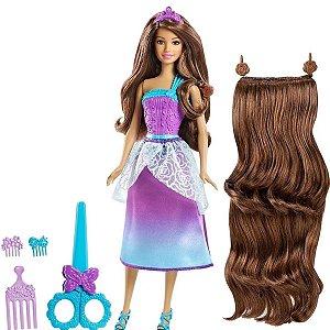 Boneca Barbie Reino Dos Penteados Magicos