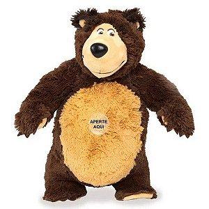 Pelúcia Urso Da Masha e o Urso Com Som- Estrela